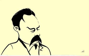 milos-rastovic_istorija-savremene-filozofije_karikatura-nicea